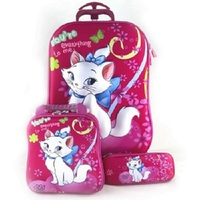 Hot Cartoon cat 3D anime trolley case kids Climb the stairs EVA luggage Travel rolling suitcase girl cartoon Pull rod schoolbag