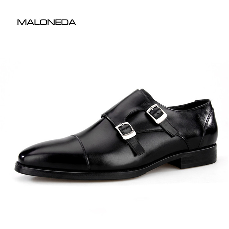 Здесь продается  MALONEDA New Genuine Leather Double Buckles Men