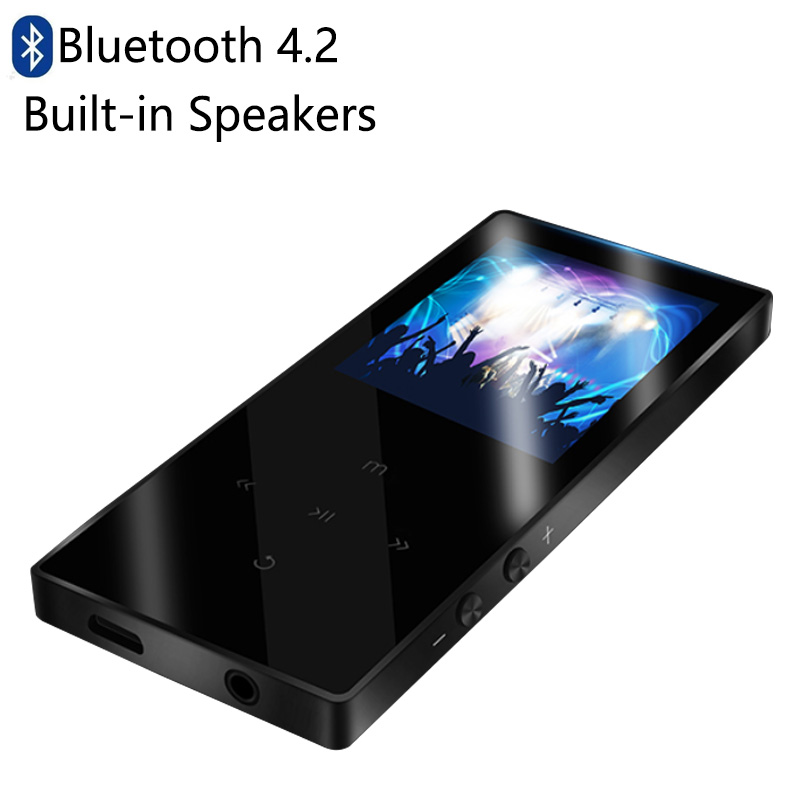 portable MP4 player bluetooth 4.2 mp3 mp4 music player Built in Speaker 1.8 inch Screen with fm radio e book video Hifi