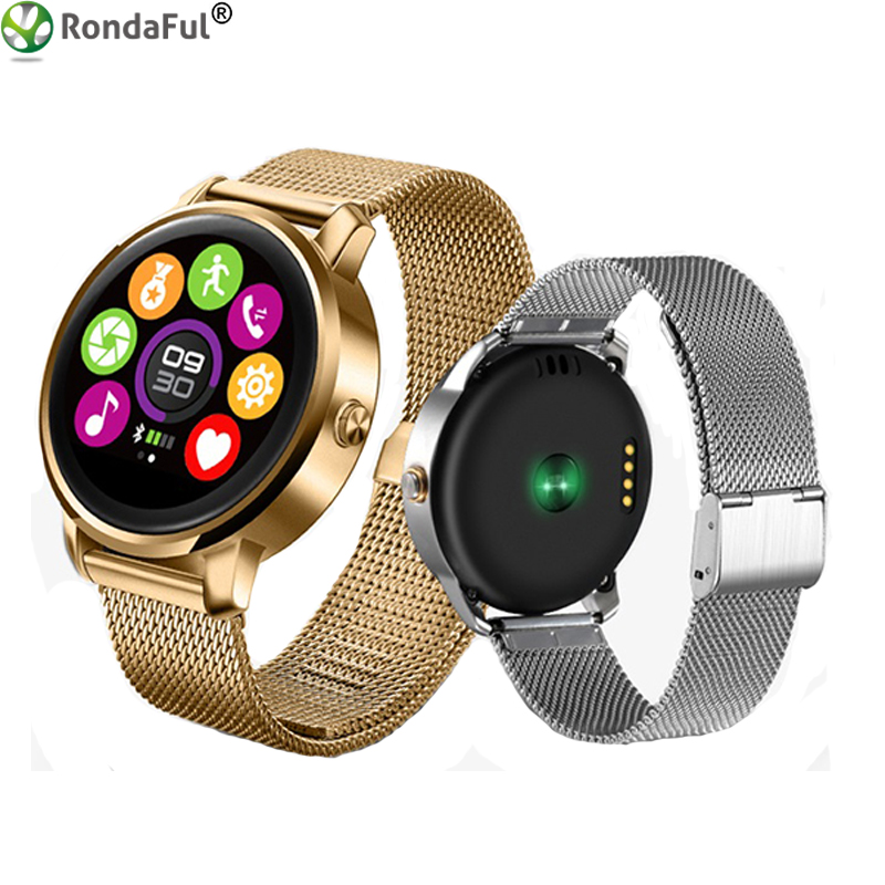 F1 Fashion Smart Watch Wrist Watch Heart Rate Sleep Monitor Pedometer Stainless Steel Strap Bluetooth Call Watch for Android IOS gt08 1 54 mtk6260a nfc bluetooth watch hd tft smart wrist strap