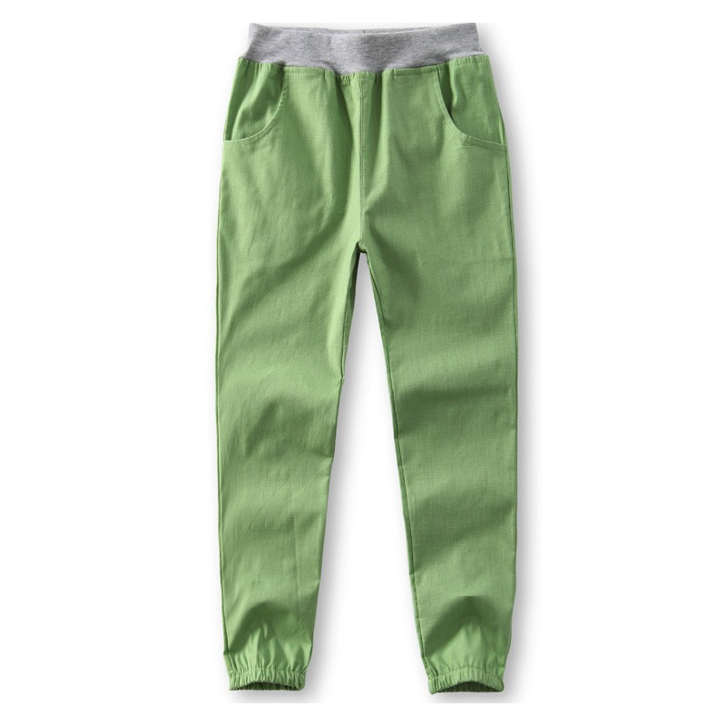 b09d083fff Famli New 2018 Spring Summer Autumn Cotton and Linen Kids Pants Boys Casual  Pants Solid Trousers