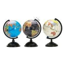 20 см Глобус Океаническая карта мира с поворотной подставкой, обучающая игрушка для изучения земли и местоположения