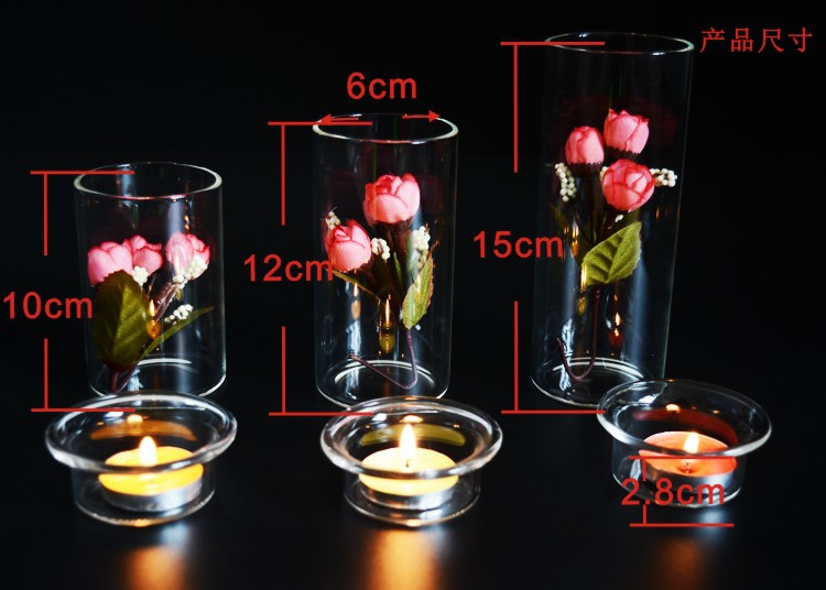 1PC New European style DIY creative ECO Candle Holder Glass Candlesticks dinner at home decoration glass crafts JY 1176 in Candle Holders from Home Garden