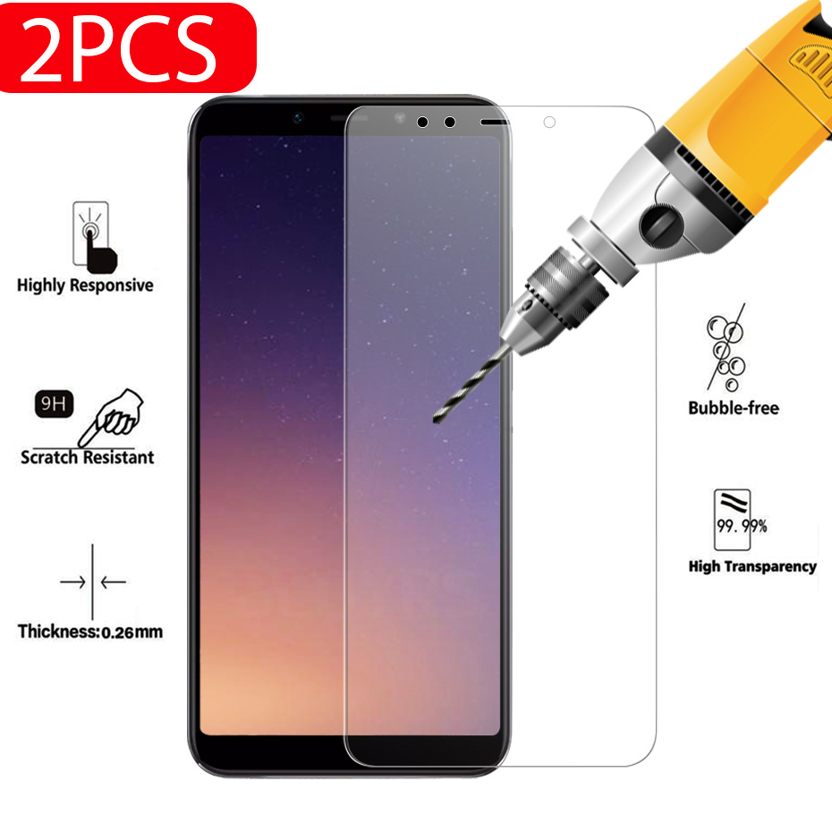 BCUYRS 2PCS/lot For Glass Xiaomi Mi A2 Lite Screen Protector Tempered Glass Film