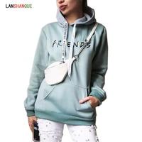 2018 New Friends Printing Hoodies Sweatshirts Harajuku Crew Neck Sweats Women Clothing Feminina Loose Women's Outwear Fall women Sweatshirts & Women Hoodies
