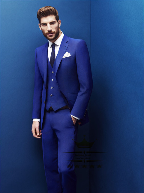 Costume Home Royal Blue Tuxedo Wedding Suits With Pants Mens Suit Tuxedos Slim Fit Grooms Jacket