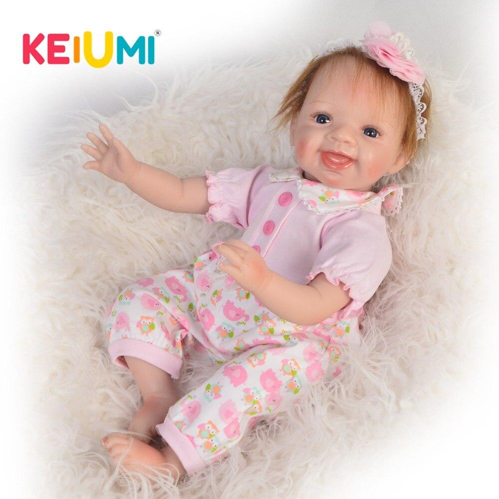 "22/"" Reborn Baby Doll Soft Handmade Lifelike Girl Boy Newborn Chirstmas Gift"