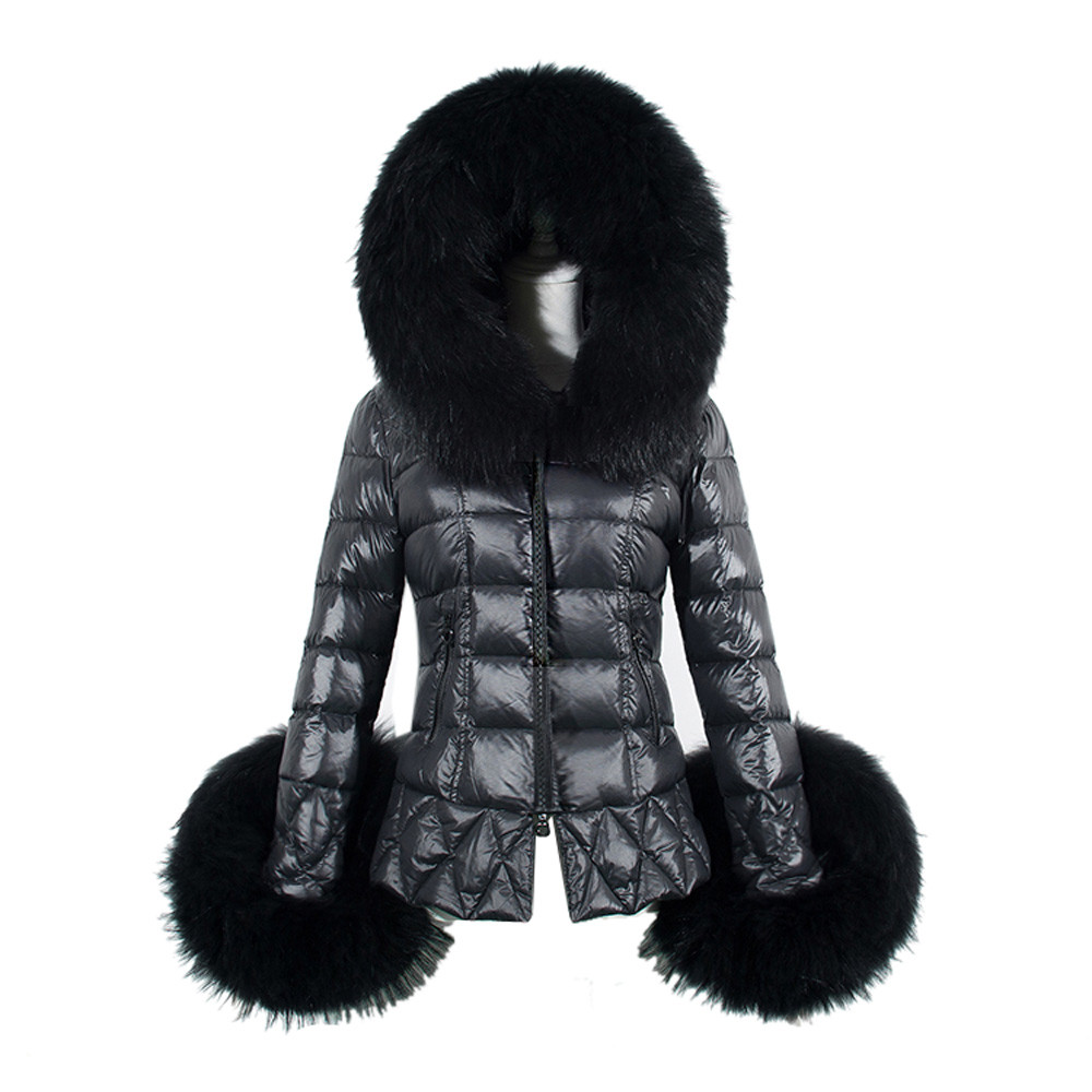 Women Winter Coat 2017 Womens Cotton Parkas Warm Faux Fur Collar Hooded Anorak Quilted Jackets Manteau Femme Plus Size Black