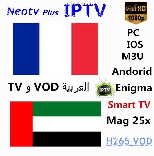 HOT Neotv pro IPTV  French Arabic UK Germany Europe for Android TV Box smart TV Mag box PC IOS Enigma2 Free test