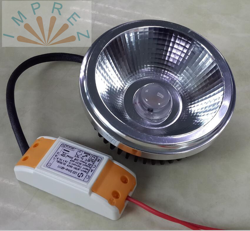 LED AR111 15W COB bridgelux LED ES111 QR111 g53 gu10 AC85-265V or 12VAC 12VDC,warm cool natural white,equal to 200w halogen lamp цена 2017