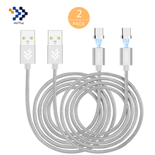WMZ 2Pack Magnetic Type-C USB Cable Male Data Charging for Xiaomi Nexus 5X/6P ZUK Z1 One Plus 2 3T LG G5 Huawei Mate 9
