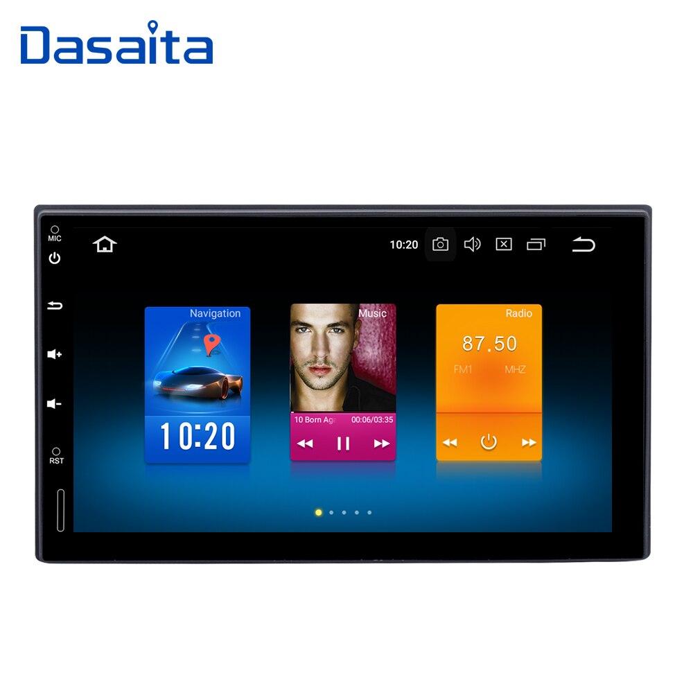 Dasaita 7 Универсальный 2din android-автомобильный радио 8,0 Octa Core 4 ГБ 32 ГБ 1024*600