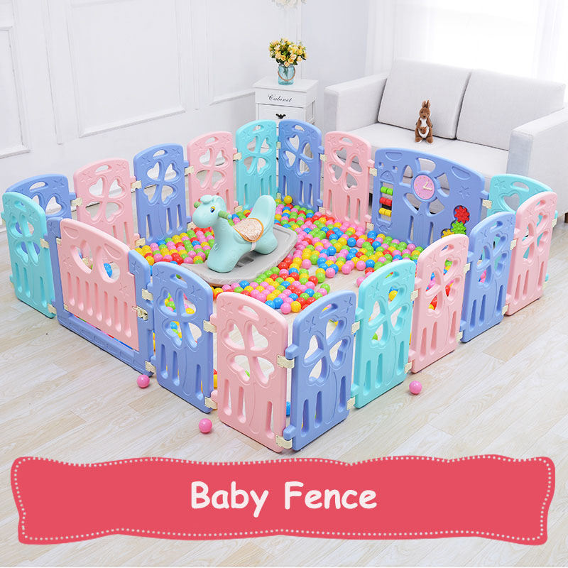 2018 Indoor Baby Playpens Outdoor Games Fencing Children Play Fence Kids Activity Gear Environmental Protection Safety Play Yard