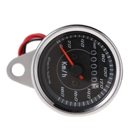 High Quality Automobile Motorcycle Styling Cool LED Light Universal Odometer Speedometer Meter For Motorcycle Km H