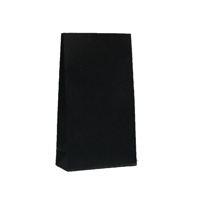 卸売 50 ピース/ロット無地黒紙袋 23 × 12 × 7.5 センチクラフトギフトバッグ好意スナックブティックギフト包装バッグ