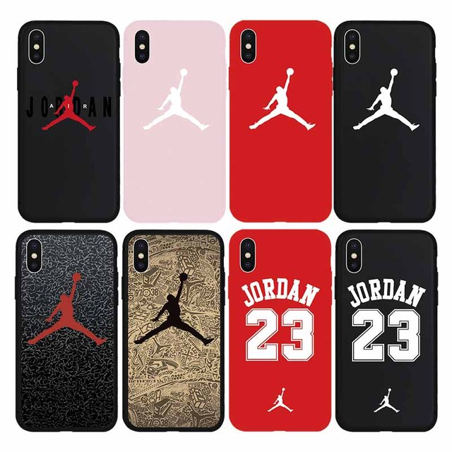 aecc8bdaffb3 Jordan 23 Fly Air Jump man Brand Sport Fashion Soft Case for iPhone 7 7Plus  8 8Plus X Xs Max XR 6 6s Plus 5 5s SE Phone Cover-in Fitted Cases from ...