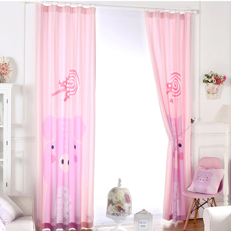 Pink 3d Window Curtain Fresh Finished Curtains For Kids Bedroom Blackout Kitchen  Curtains Blinds Drapes Girls