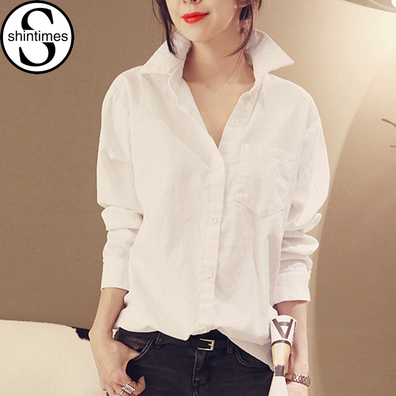 chemise femme white shirt women blouses womens tops 2017 cotton summer korean pink blouse long. Black Bedroom Furniture Sets. Home Design Ideas