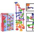 Diy construcción intelecto bola de mármol plazo pistas juego laberinto bolas niños rompecabezas educativos set niños de los niños juguetes de regalo