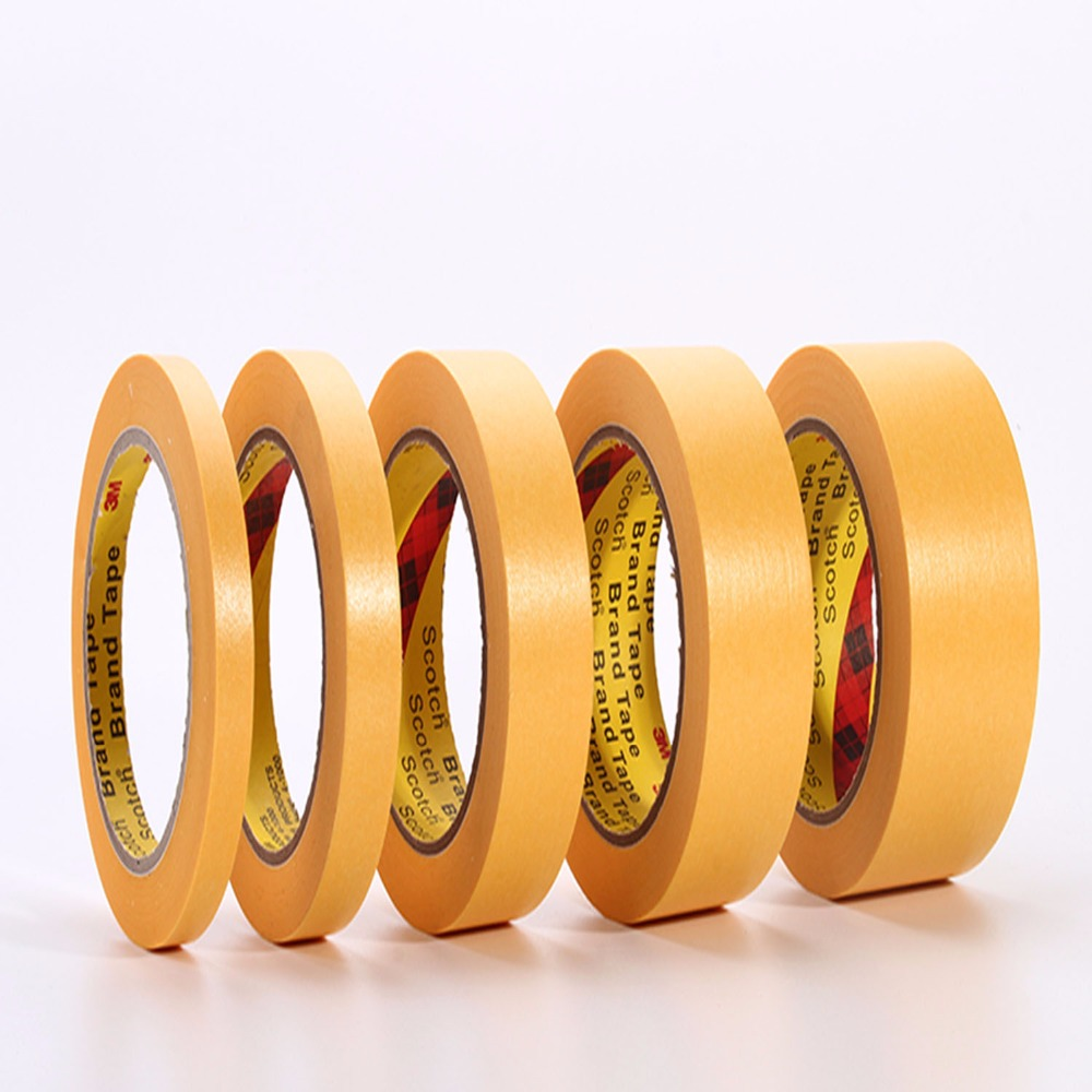 60mmx164ft 3M244 Yellow Masking Tape for PCB Auto High Temperature Painting Coating Shielding Protecting цена и фото