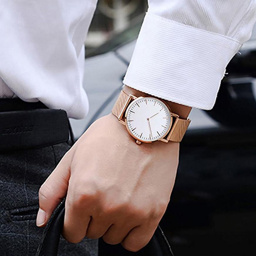 Top Brand Luxury Stainless Steel Mesh Band Watches Men Analog Quartz Bracelet Wrist Watch Male Date Clock Women Dropshipping new arrival longbo 5072 fashion women men quartz watch stainless steel mesh band simple wrist wacthes for lover luxury top brand