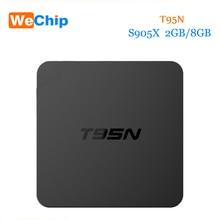 10 шт./лот T95N Amlogic S905X quad-core Оперативная память 2 ГБ Встроенная память 8 ГБ Android 6.0 TV Box 2.4 г Wi-Fi Коди 16.0 Smart Media Player лучше, чем V88