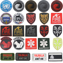 3D New PVC Spanish Flag Patch Squirrel Viking Wolf Firefighter United Nations Member Honor Medal Military Badge Tactical Patch embroidered patches united states montana state flag patch tactical 3d national flags army armband badge