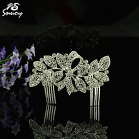 Free Shipping Hot Sale Wedding Hair Comb Leaf Bridal Hair Accessories Crystal Romantic Collection