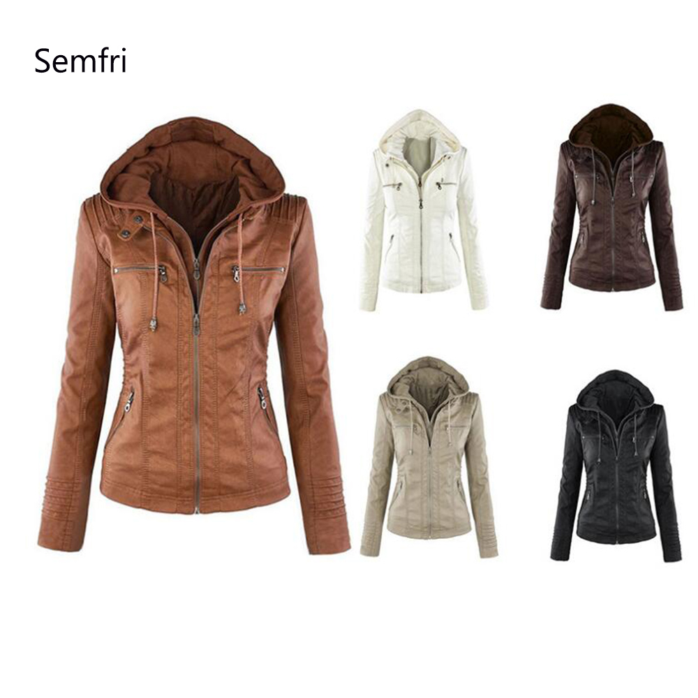 Semfri Winter Faux Leather   Jacket   Women Casual   Basic   Coats Plus Size 7XL Ladies   Basic     Jackets   Waterproof Windproof Coats 2019