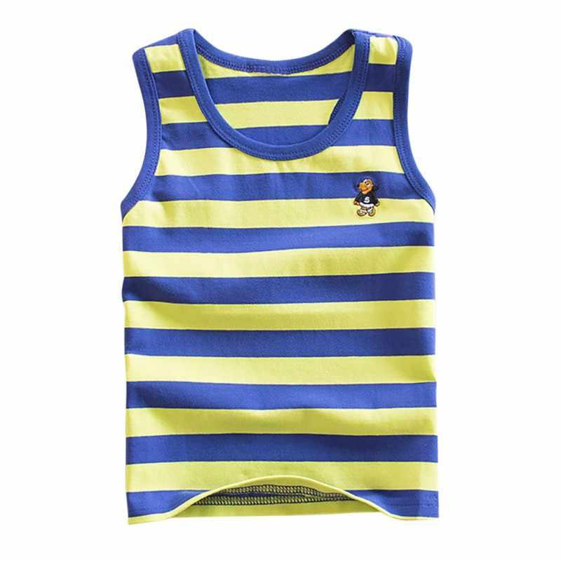4 стиля полосатый жилет для девочек и мальчиков безрукавка для девочек чесаный хлопковый детский жилет топик нижнее белье