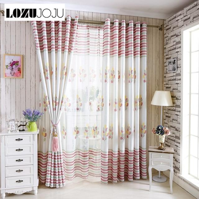 LOZUJOJUTree tende di lino per finestre tende blu cucina di casa ...