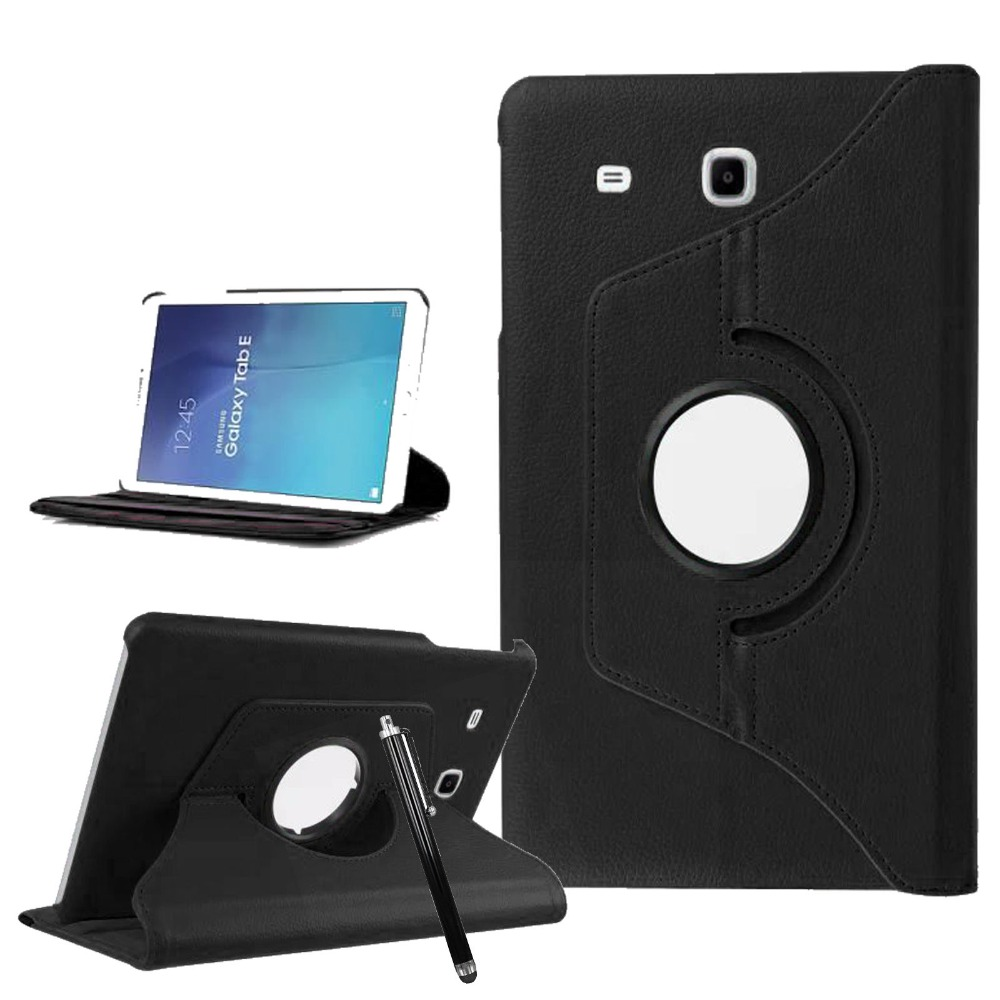 Case For Samsung Galaxy Tab E 9.6 SM T560 T561 360 Rotating Flip PU Leather Case Smart Protective Case With Stand funda+ Pen keymao luxury flip leather case for samsung galaxy s7 edge