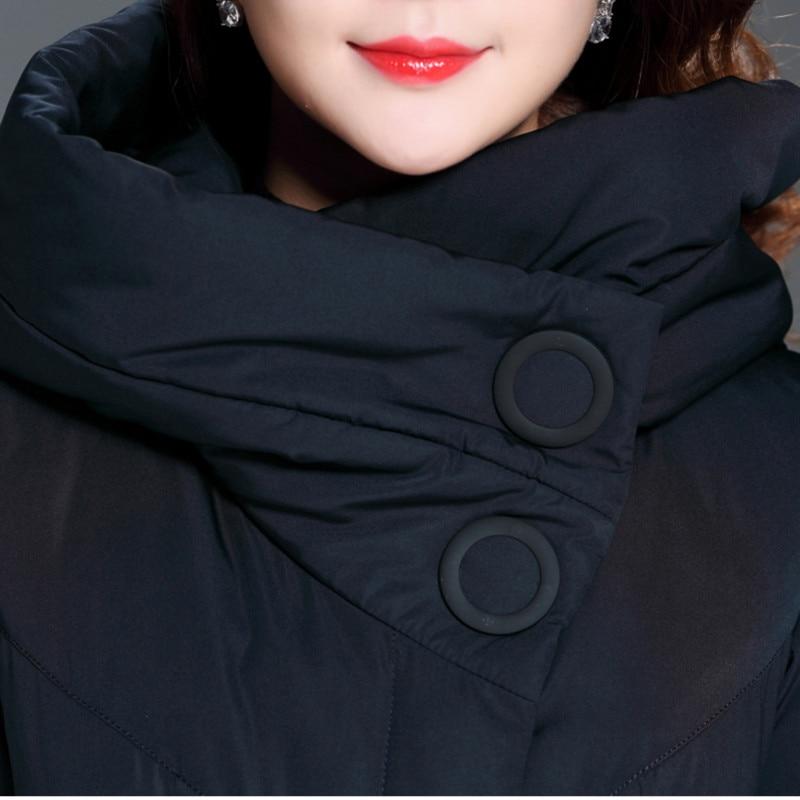 Très Long Bas Chaud Le Haut Manteaux Couleur Veste armygreen D'hiver Navy La black Vers 2019 Blue Coton Tempérament Vestes Gamme De Taille Épais Plus khaki Solide Femmes Tx7wdZq6a