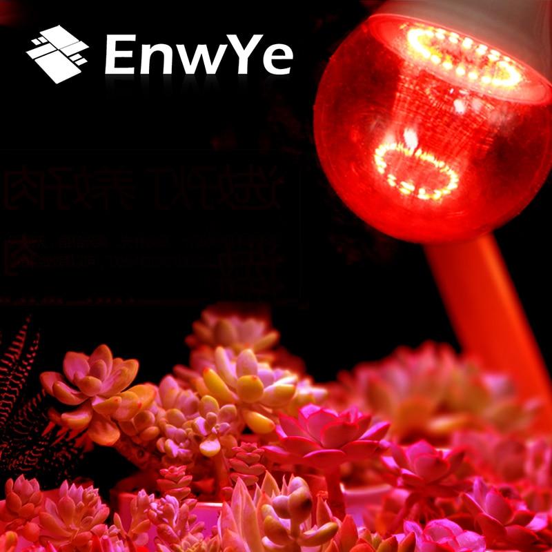 EnwYe New Type Plant Light Bulb E27 220V 6W 12W Full Spectrum Indoor LED Plant Lamp For Plants Vegs Hydroponic System Plant