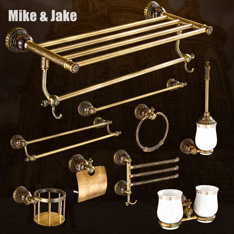 Antique brass bathroom towel shelf Black towel shelf paper holder towel shelf Bathroom shelf Black bathroom