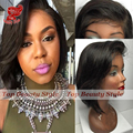 2017 New Style ! Short Bob Wig Synthetic Lace Front Wig With Side Bangs Heat Resistant Synthetic Wigs For Black Women