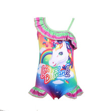 цена на Toddler Unicorn children swimsuit for girl one piece baby girls unicorn bathing suit swimming costume 0373
