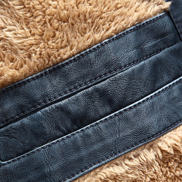 WEBONTINAL PU Faux Casual Man Jackets Men Leather Jacket Male Coats Winter Warm Velvet Hombre korean Moto Motorcycle Outerwear