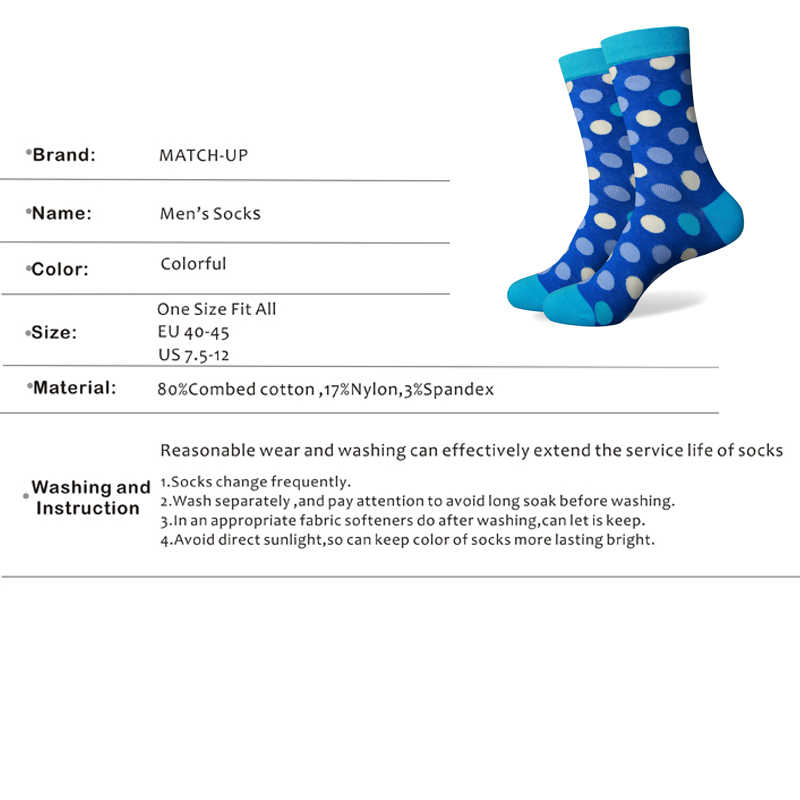 Match-Up Free Shipping combed cotton brand men socks,colorful dress socks (5 pairs / lot )  no gift box
