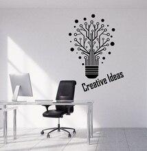 Della parete del vinile applique creativo lampadina parola segno ufficio workstation citazione inspirational adesivo decorativo 2BG10