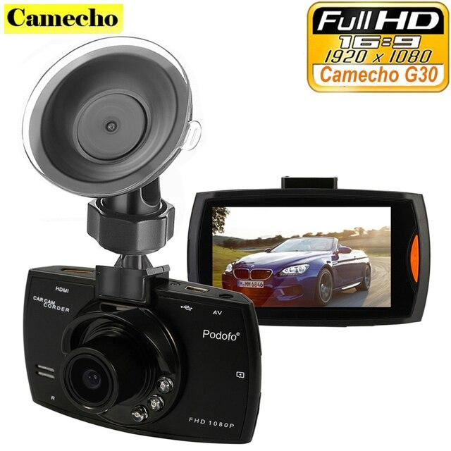 """Camecho Автомобиля Камеры G30 Full HD 1080 P 2.7 """"Рекордер автомобиля Dvr + Motion Ночной Обнаружение Видения G-Sensor 32 ГБ Видеорегистраторы Тире Камерой Черный Ящик"""