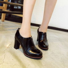 EUR plus size to 40 41 42 43 44 45 46 47 48 fashion high quality PU Mature Style women shoes Round Toe pumps free shipping