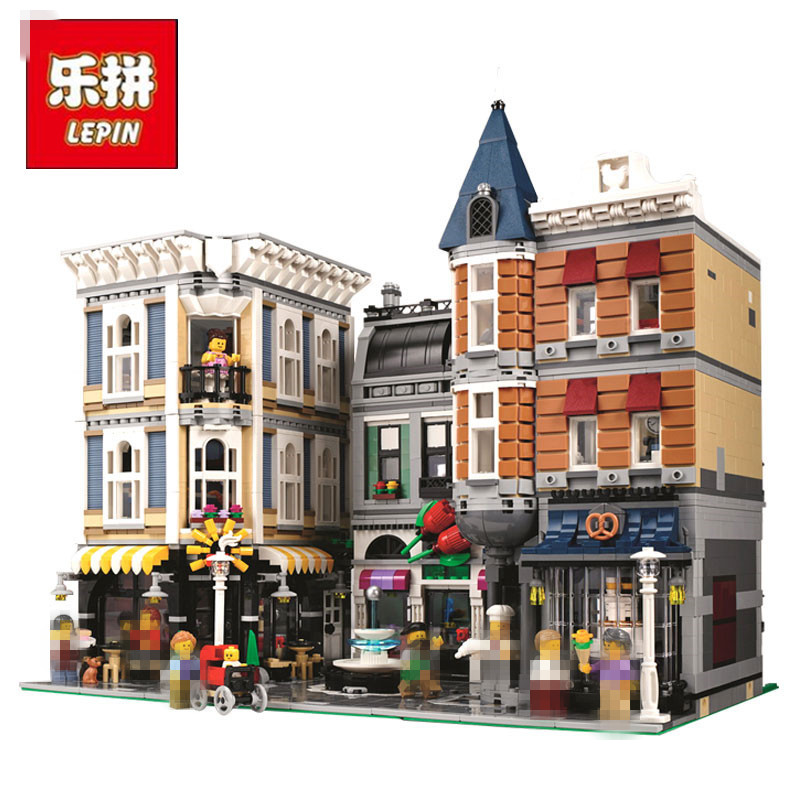 цены  LEPIN 15019 4002pcs Assembly Square Creator City Series Model Street Building Blocks Bricks Kits Toys Gift Compatible 10255