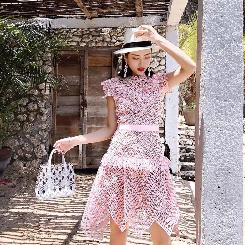 Rose Soirée Mariage De 2019 Asymétrique Série Dentelle Mini Luxe Robe Robes Vintage Formelle Bal Mode XqRxx6aw