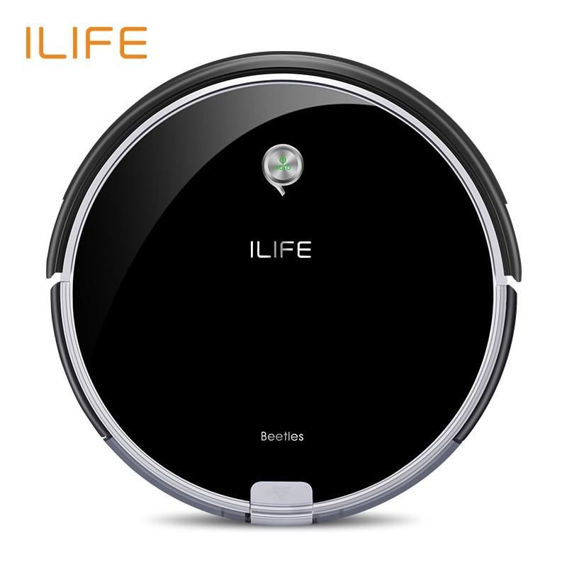 ILIFE A6 Robotic Vacuum Cleaner com Preto Piano