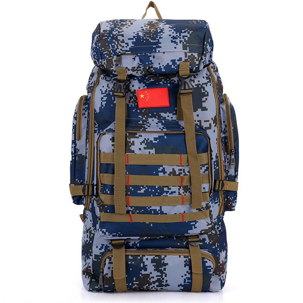 504f2ea83465 Outdoor Hiking Backpacks 80L Large Capacity Outdoor Camouflage Bags Nylon  for Men and Women Travel