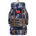 Уличные походные рюкзаки 80L большой емкости  уличные камуфляжные сумки из нейлона для мужчин и женщин  сумки для путешествий и кемпинга