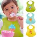 Waterproof Silicone Baby Bibs Feeding Saliva Towel for Newborn Cartoon Apron Washable Bib BB Crumb Catcher