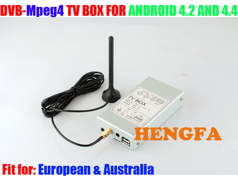 ФОТО DVB-MPEG4 Car TV  Receiver Box Tuners For Pure Android 4.2 /4.4 Car DVD Player For European & Australia