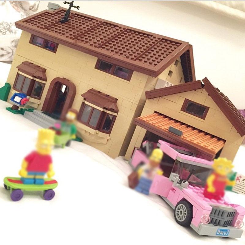 16005 2575PCS Compatible 71006 Simpsons House Sets Model Building Kits Blocks Bricks Toys For Boys Girls Kids Gifts